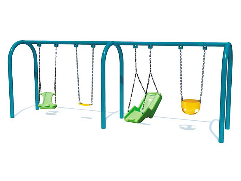 Outdoor Galvanized Steel Toddler Swing Set for Sale SW-005