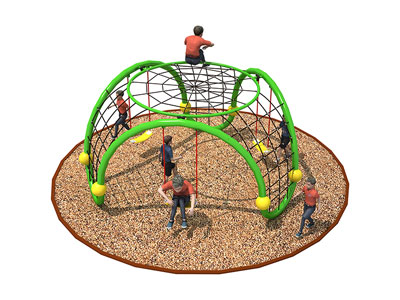 Chidlren Outdoor Metal Climber with Swing Sets ODCS-003