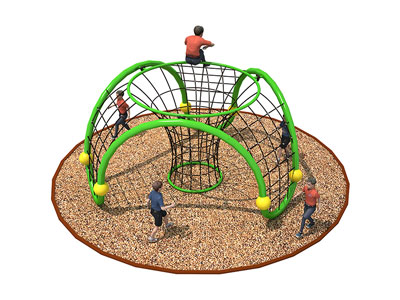 Outdor Kids Metal Geometric Climber with Ropes ODCS-004