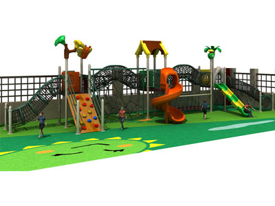 Outdoor Steel Wire Net Tunnel Playground for Kids GZ-002