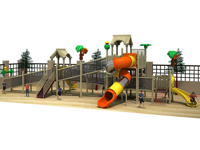 Outdoor Rope Climbing Structure Playground for Kids GZ-006