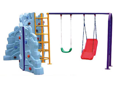 Outdoor Swing Sets with Plastic Climbing Rock for Chidlren SW-002