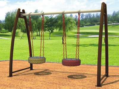 Outdoor Free Standing Tire Swing Set for Parks SW-022
