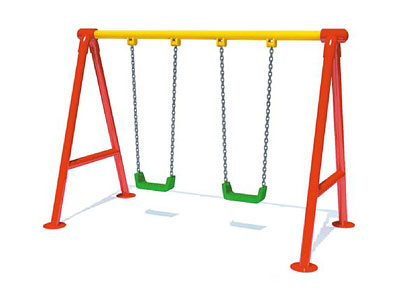 Outdoor Kids Swing Sets with Two Plastic Seats SW-001