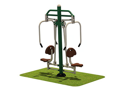 High Quality Park Fitness Equipment Double Push Chairs OF-014