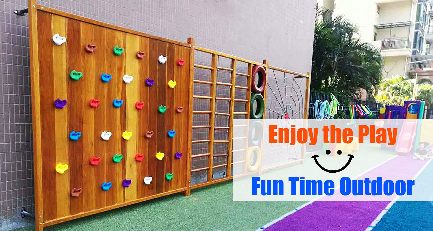 Outdoor Wooden Climbing Frames for Toddlers